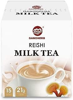 GANOHERB Reishi Mushroom Milk Tea,Instant Tea PowderMixed with Organic Ganoderma Lucidum Extract,Delicious And Smooth Flavor ,Gluten-Free,0.74 Ounce (15 Count)