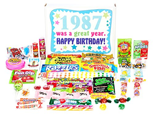 Woodstock Candy ~ 1987 33rd Birthday Gift Box Retro Nostalgic Candy Mix from Childhood for 33 Year Old Man or Woman Born 1987