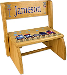 Personalized Train Folding Step Stool