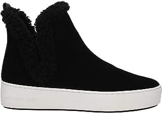 Ashlyn Slip-On Black Sport Suede/Mini MK Logo Semi Lux/Curly Shearling Lining 11