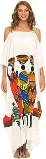 SHU-SHI Womens Kaftan Dress Long Beach Cover-Up Cold Shoulder Plus Size Caftan