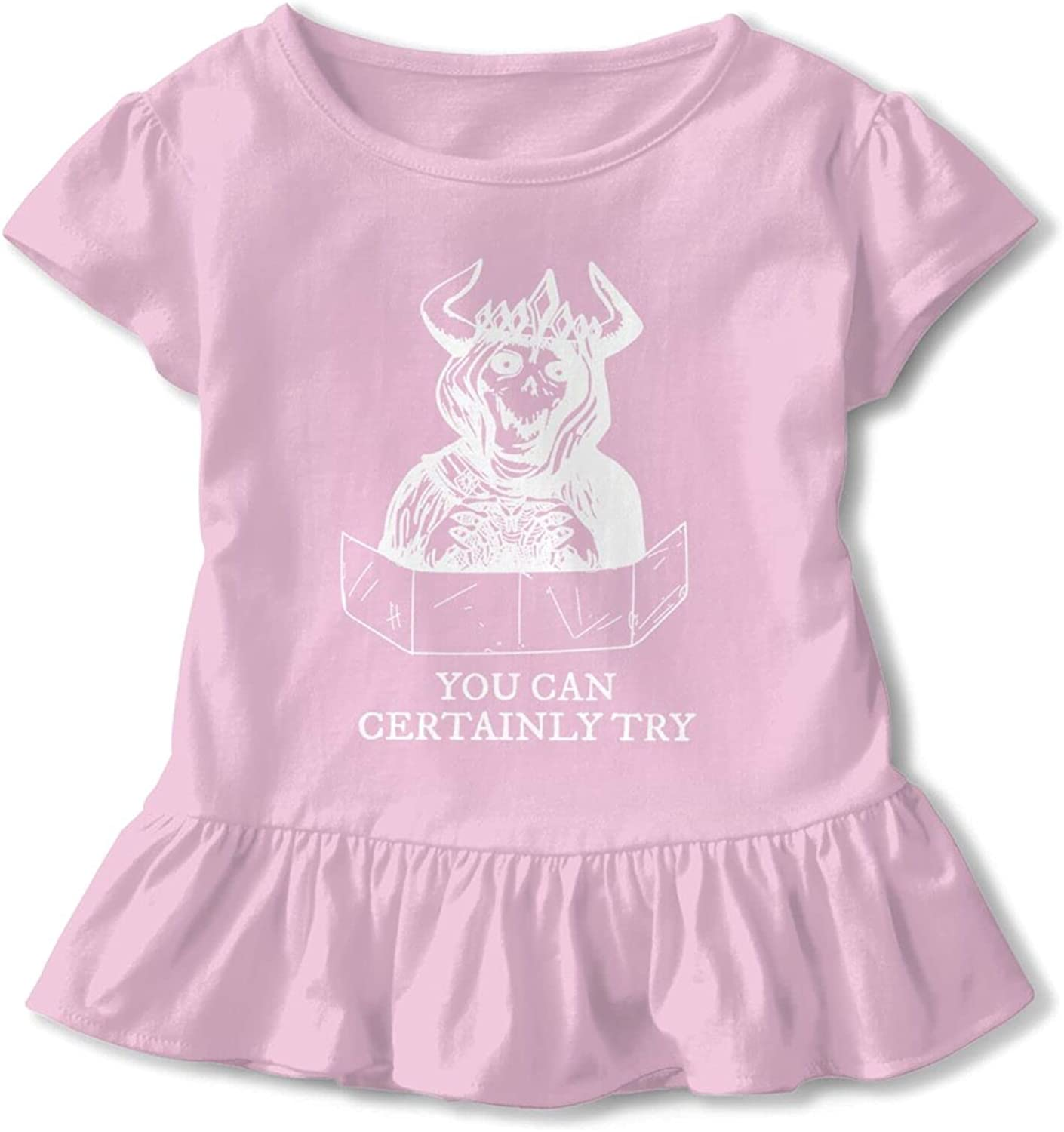 You Can Certainly Try Skull Crown Babys Girls Cotton T-Shirt T Shirts Dresses