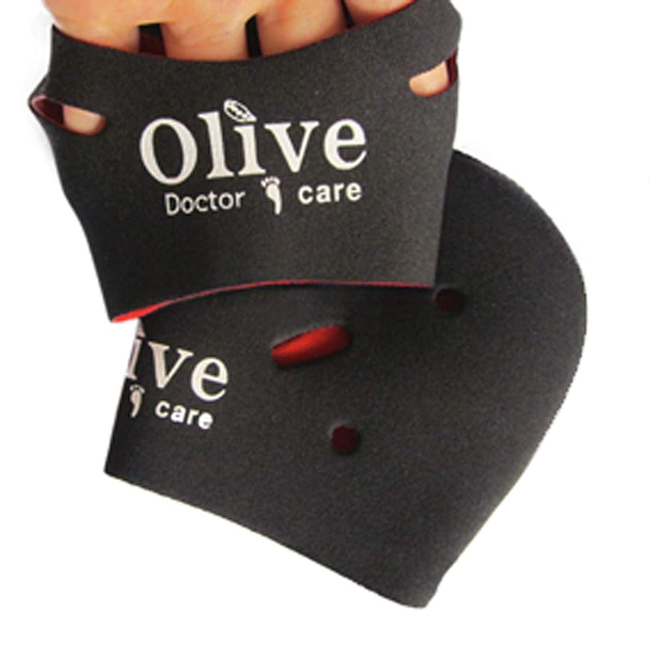 ライトニング予想する緩める[NICE-SHOP]かかとケア靴下 Olive Doctor Care