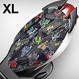 KKmoon Funda para Asiento Moto,Cubierta de 3D Malla Fresca para Asiento Cojín Protector,Elastica,Transpirable, XL (Longitud 84-90CM, Ancho 47-52CM)