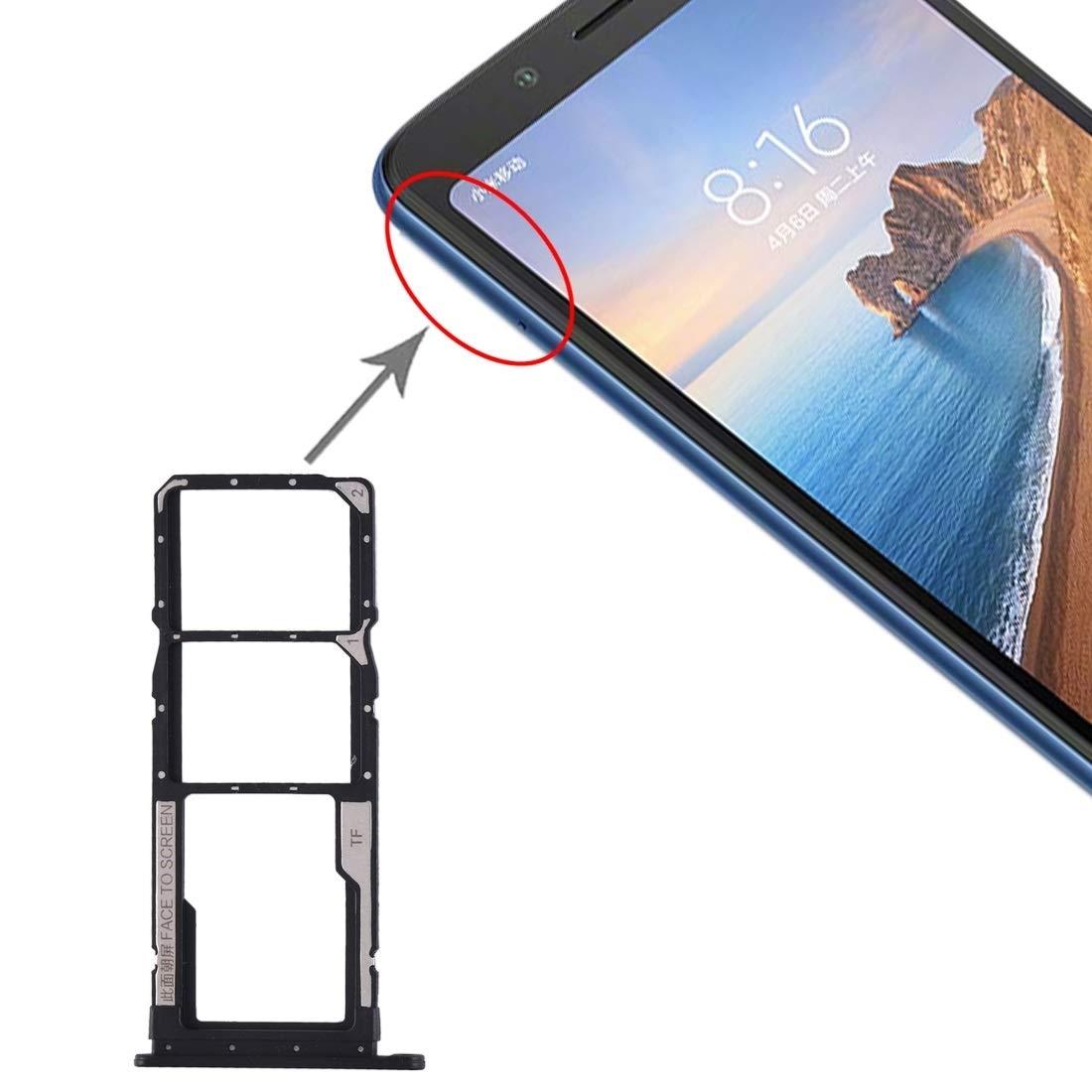 Repuestos para Smartphone Bandeja de Tarjeta SIM + Bandeja de Tarjeta SIM + Bandeja de Tarjeta Micro SD for Xiaomi Redmi 7A (Negro) Flex Cable (Color : Black): Amazon.es: Electrónica