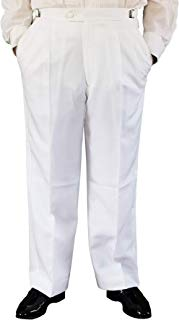 Mens Adjustable White Tuxedo Pants