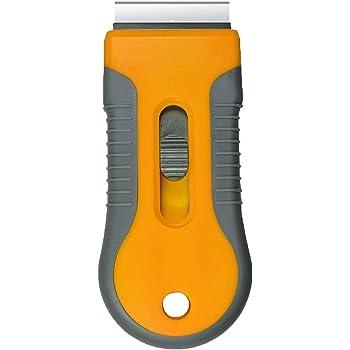 Retractable Razor Blades Scraper for Window Film Glass Glue Removing 5pcs Extra Replaceable Razor Blades