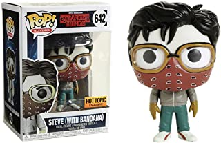 Funko Steve w/ Bandana (Hot Topic Exclusive): Stranger Things x POP! TV Vinyl Figure + 1 American TV Themed Trading Card Bundle [#642 / 30881]