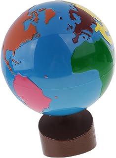 Blesiya Montessori Geography Material - Globe of World Parts