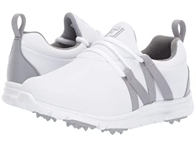 FootJoy Leisure Spikeless (Little Kid/Big Kid) (White/Grey) Golf Shoes