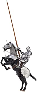 Takeya Style Freely Figurine 15th Century Gothic Equestrian Armor Silver Approximately 5.7 inches (147 mm) Tall PVC & ABS ...