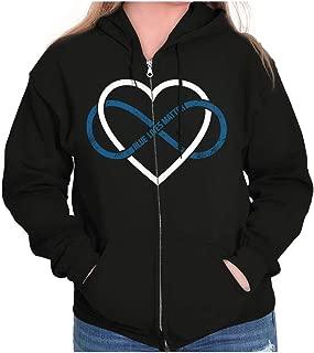 Blue Lives Matter Infinity Line Police Zip Hoodie