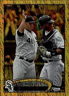 2012 Topps Gold Sparkle #244 Sergio Santos Chicago White Sox MLB Baseball Card NM-MT