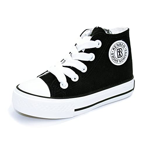 cecbb5b5690 Sabe Boys Girls High Top Zipper Canvas Sneakers Slip-on Fashion Pumps  Casual Sport School