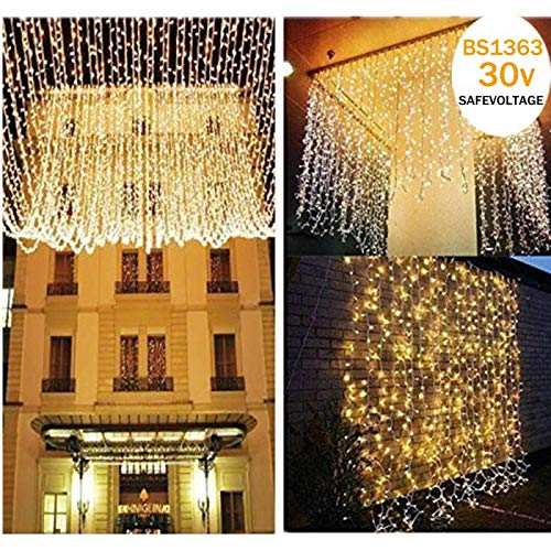 Christmas Curtain Lights Amazon Co Uk