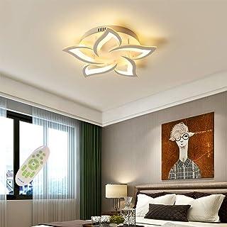LED Plafonnier Moderne Dimmable Créatif Forme De Fleur Design Lampe De Plafond Métal Acrylique Pétales Lustre Salon Restau...