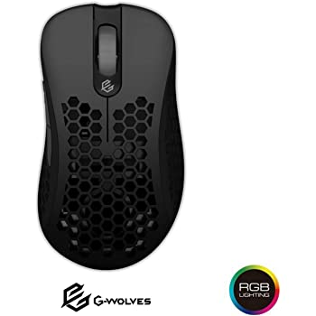 G-Wolves Skoll SK-L3360 Ultra Lightweight Honeycomb Shell Wired Gaming Mouse up to 12000 cpi - 7 Buttons - RGB 2.32 oz (66g) (Ace 3360, Black)