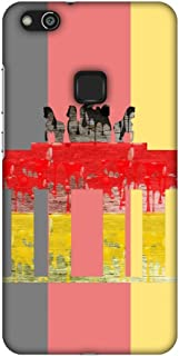 AMZER Slim Fit Handcrafted Designer Printed Snap On Hard Shell Case Back Cover for Huawei P10 Lite - The Brandenburg Gate-...