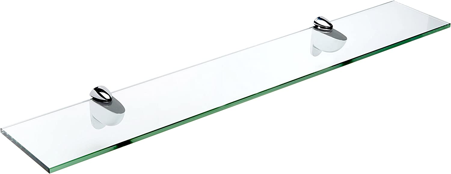 Bombing free shipping Spancraft Glass Heron Shelf Chrome 12 x 21 Special price for a limited time