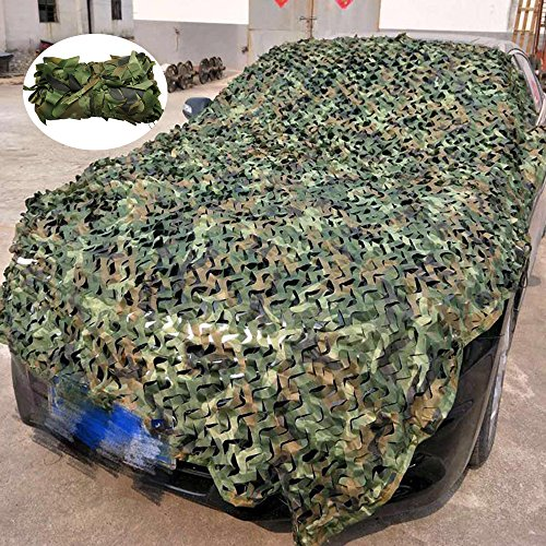 Comficent Red de Camuflaje,Mallas de Camuflaje Protección para el Bosque Ejército de Caza de Campo y Cobertura al Aire Libre (Camuflaje Verde, 2 x 1,5 M)