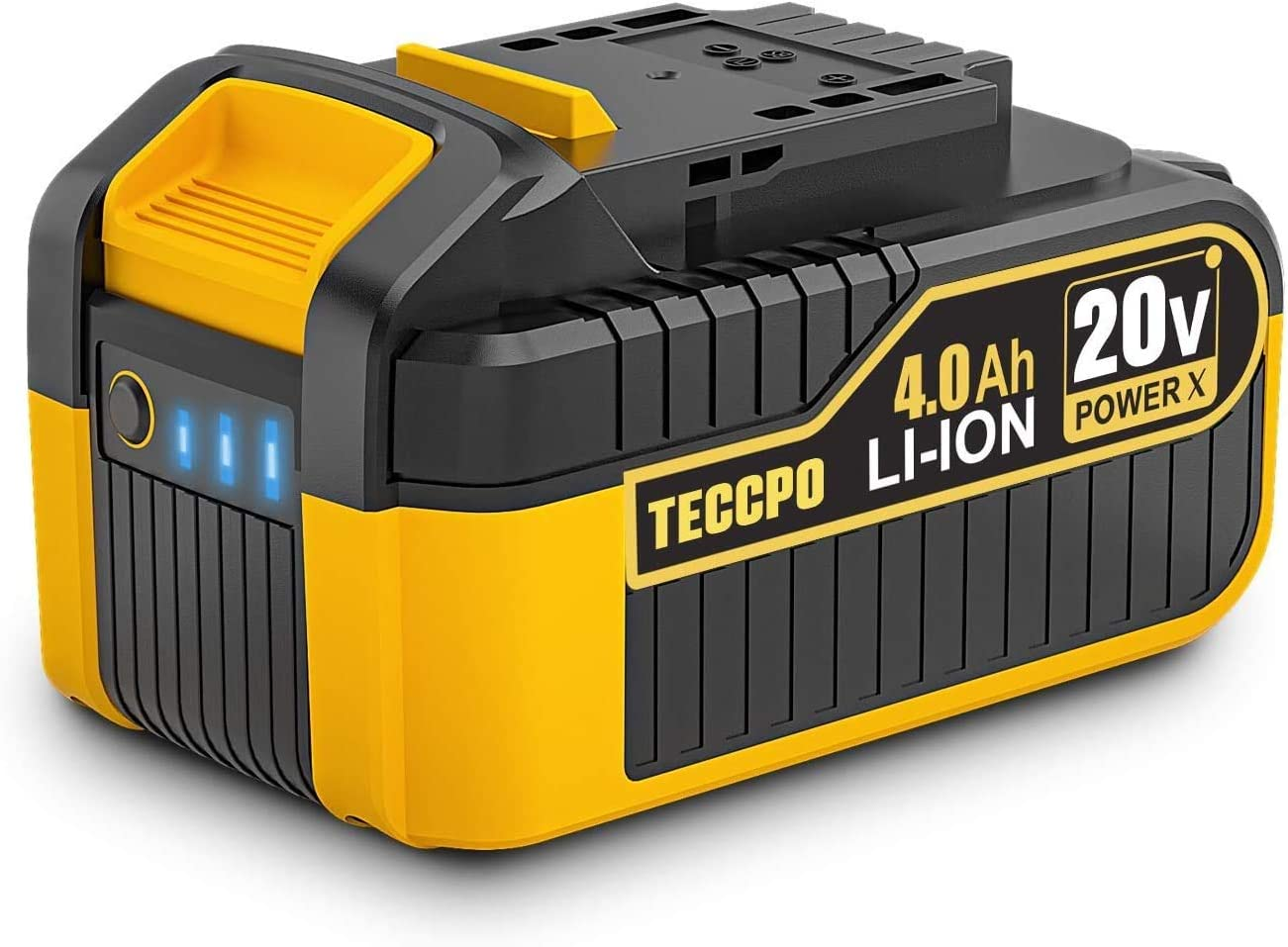 TECCPO 20V MAX 4.0 Ah Rechargeable Lithium Japan's largest assortment Battery-Pack Ion Super sale Rep