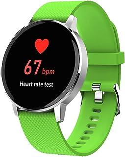 FUN+Smartwatch Relojes Inteligentes, Rastreador De Ejercicios 1.22 Pulgadas Pantalla Táctil Podómetro Pulsera Impermeable Monitor De Ritmo Cardíaco Contador De Pasos Monitor De Sueño