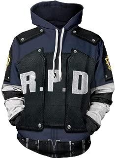 Nsoking Resident Evil 2 Hoodies Leon Scott Kennedy Jacket 3D Printed Hoodie Thin Sports Coat