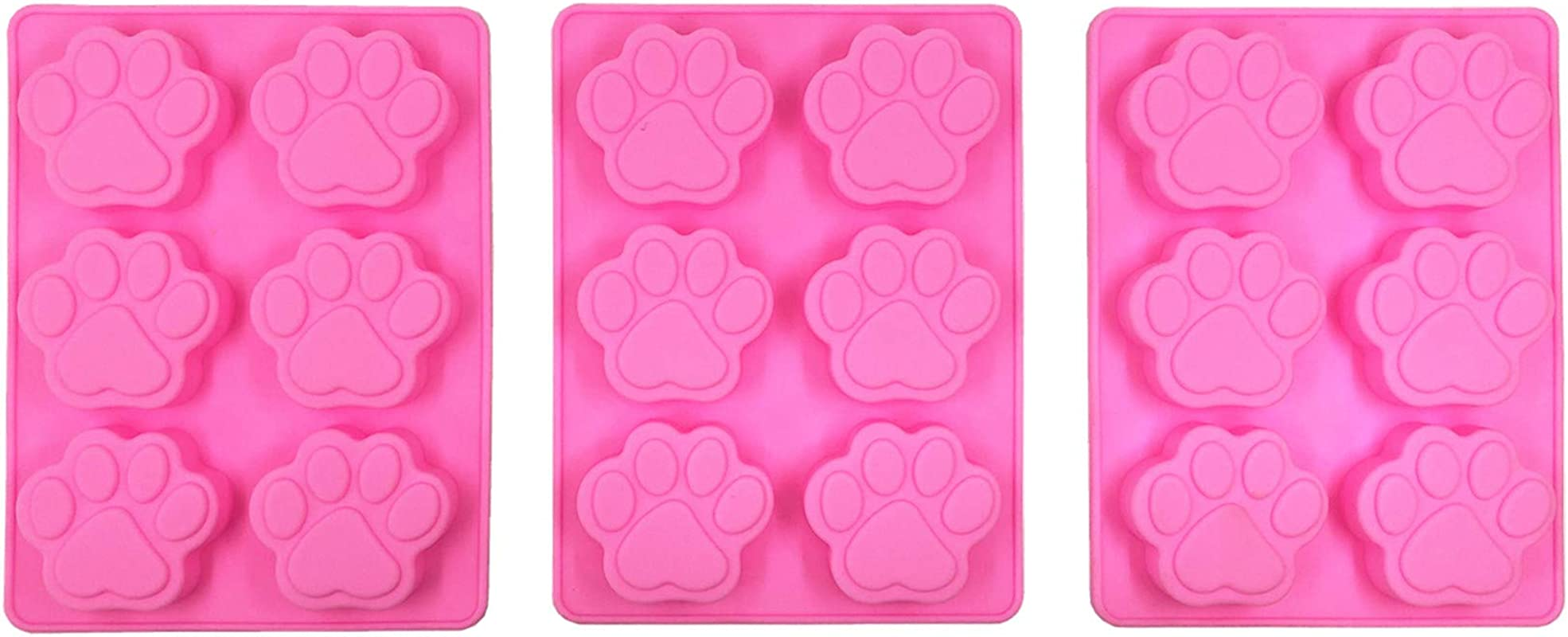 Cat S Paw Shape Molds Food Grade Silicone Cake Molds Chocolate Ice Jelly Mold Party Decor Homemade Cupcake Candy Bake Ware Baking Tools And Soap Molds 3 Pack Cat S Paw