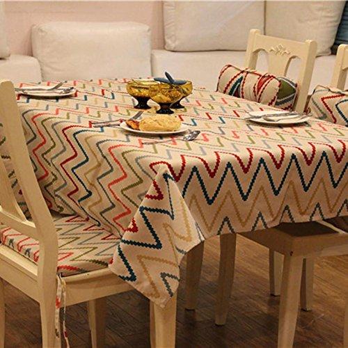 Nappe Tissu en coton Rectangulaire Accueil Pique-nique Anti-poussière , table: 140*180cm , 1
