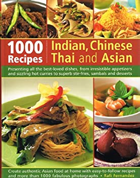 Paperback 1000 Recipes Indian Chinese Thai & Asian Book
