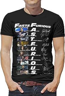 Maglietta da uomo Fast and Furious oversize a maniche corte, scollo rotondo