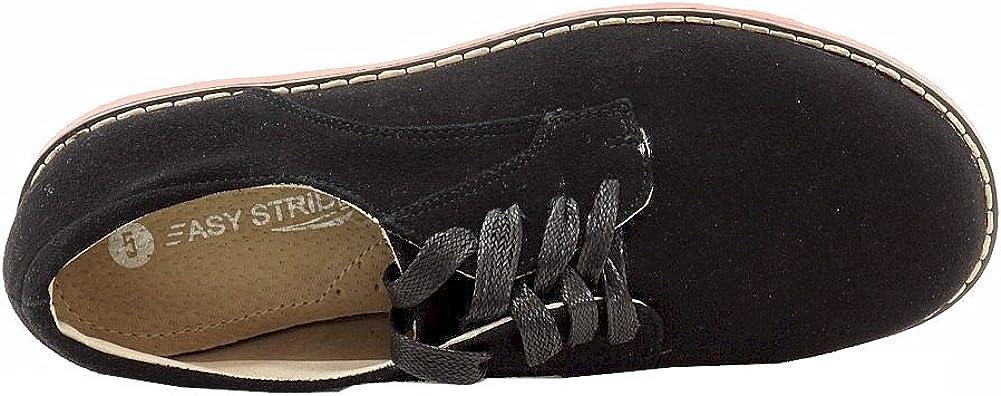 Easy Strider Boy's Suede Buck Fashion Black Oxford School Uniform Shoes Sz: 4