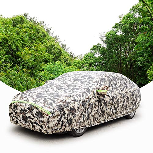 JYWAJAA Car Cover Waterproof All Weather Car Umbrella Sun Shade CoverMade of Dujin Oxford Cloth Material Wear-Resistant, Waterproof, Anti-Scratch, Rain and Snow Hail Car Cover,Hatchback,XL