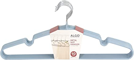 Algo AI-MHS29610BL Metal Suit Hanger, Blue (Pack of 10)