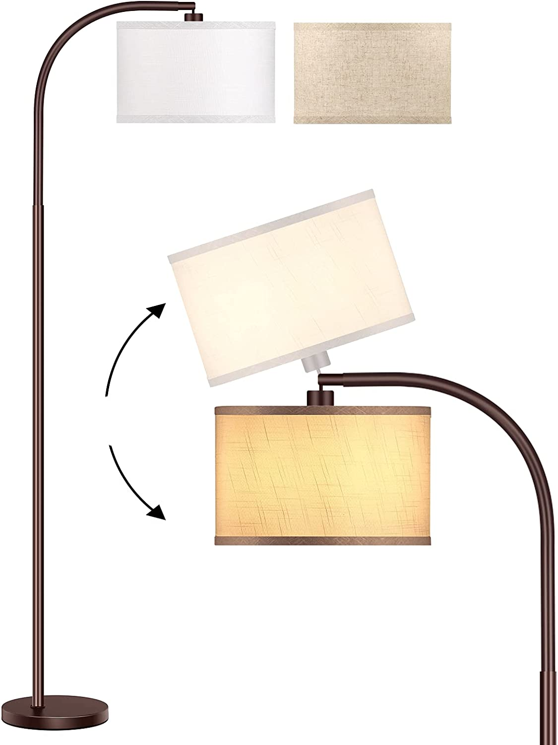 Max 46% OFF ROTTOGOON Floor Lamp Popular standard for Living Bronze Stan Oil-Rubbed LED Room