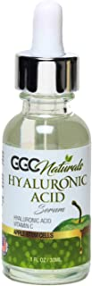 GGC Naturals Hyaluronic Acid Serum with Vtamin C & Niacinamide, Anti-Aging Serum, Skin Hydration & Moisture 1 fl oz / 30ml