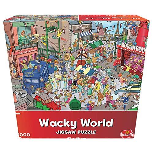 Goliath- Puzzle París Wacky World, Multicolor (919242006)