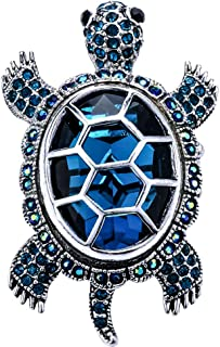 Szxc Jewelry Women's Crystal Big Turtle Stretch Rings