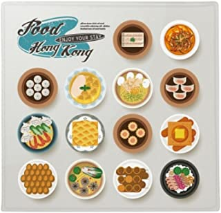 DIYthinker Alfombrilla de Suelo Antideslizante para Mascotas de Hong Kong Foodie China, Cuadrada, para Puerta de Cocina, 8...