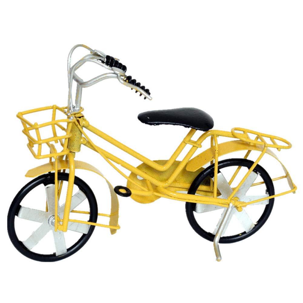WZXYX Pequeña Estatua Esculturas Decoracion Esculturas Y Estatuas De Jardín Modelo De Bicicleta De Hierro Pintado A Mano Accesorios para El Hogar Decoración Retro Rústica: Amazon.es: Hogar