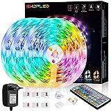 Tira LED 18M, SHOPLED RGB SMD 5050 Luces LED Kit de Cambio de Color con Control Remoto de 44 Teclas y Fuente de Alimentación, para Dormitorio, Cocina, TV, Fiesta, Decorativas Habitacion