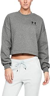Under Armour Kadın Sweatshirt RIVAL FLEECE GRAPHIC LC CREW-GRY