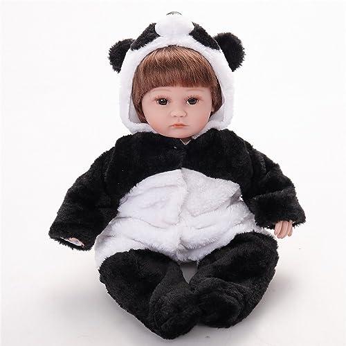 QXMEI 18 Zoll Reborn Baby Dolls Realistische Handgemachte Neugeborenen Silikon Baby Doll Lebensechte Weiße Simulation Augen  nen mädchen Lieblingsgeschenk 45cm