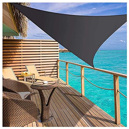 Triangular Velas De Sombra 4x4x5.7m Para Patio Toldos Exterior Terraza Con Cuerda Libre Protección Rayos UV Impermeable Para Patio Exteriores Jardín Balcón Gris Oscuro(Size:3*4*5m(9.8*13.1*16.4ft))