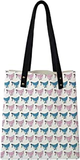 Satchel Purse Maritime Themed Frames with Waves Sun Trees Dolphins Birds Exotic Sea Pattern,Big Capacity Handbag Hobo bag Womens Soft PU leather Tote Shoulder Bag