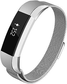 Haotopバンド対応 Fitbit Alta/Fitbit Alta HR,プレミアムメタルステンレススティール交換用バンド for Fitbit Alta/Fitbit Alta HR (銀)