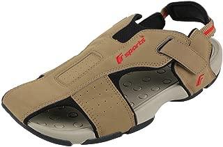 F-Sports Men's Brown Synthetic Sandal - 8UK