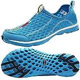 ALEADER Women's Mesh Slip On Water Shoes Blue 8.5 B(M) US