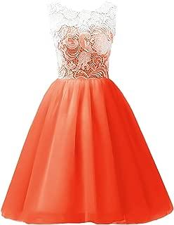 orange lace wedding dress