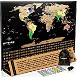 large black map with gold continents